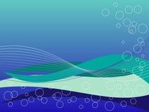 blåa gröna waves Fotografering för Bildbyråer