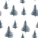 Blåa granar på den vita bakgrunden vektor illustrationer