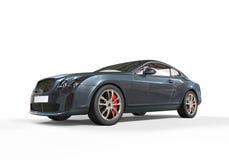 Blåa Grey Luxury Car Arkivfoton