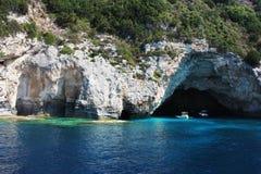 blåa grottor Arkivfoto