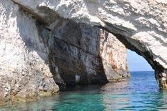 Blåa grottor Arkivfoton