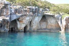 Blåa grottor Arkivbild