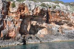 Blåa grottor Arkivbilder
