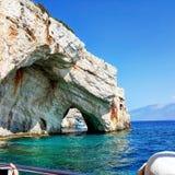 blåa grottor Royaltyfria Bilder