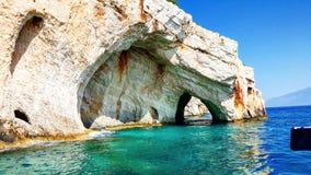 blåa grottor Royaltyfri Fotografi