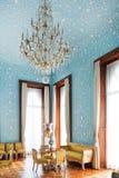Blåa Hall av den Vorontsov slotten i Krim Royaltyfri Bild