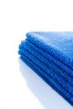 blåa handdukar Royaltyfria Foton