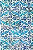blåa handgjorda tegelplattor Royaltyfri Fotografi