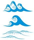 blåa havswaves Royaltyfria Bilder