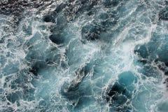 blåa havwaves fotografering för bildbyråer