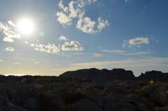 Blåa himlar i Mallorca Arkivfoto