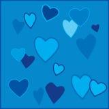 blåa hjärtor Fotografering för Bildbyråer