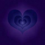 Blåa hjärtor för multipel med målat glasseffekt Fotografering för Bildbyråer