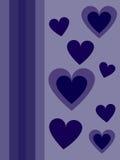 Blåa hjärtor för valentindag Arkivfoto