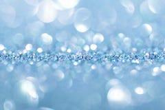 blåa illustrationsparkles för abstrakt bakgrund Arkivbilder