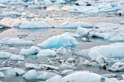 blåa isberg Royaltyfri Fotografi