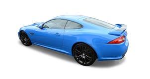 Blåa Jaguar royaltyfria bilder