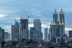 Blåa Jakarta, Indonesien Arkivbild