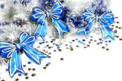 blåa julgirlandband Royaltyfri Bild