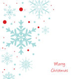 blåa julsnowflakes för bakgrund Fotografering för Bildbyråer
