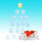 blåa julsnowflakes för bakgrund Arkivfoto