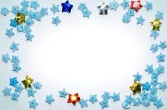 blåa kantstjärnor royaltyfria foton