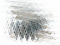 Blåa kaotiska slaglängder för grå färger i form av en fractal royaltyfria foton