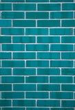 blåa keramiska rektangulära tegelplattor Royaltyfria Bilder