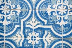 blåa keramiska tegelplattor Royaltyfria Bilder