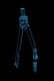 blåa klämmor framförde den genomskinliga röntgenstrålen Arkivbild
