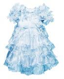 blåa klänningflickor little Fotografering för Bildbyråer