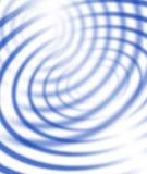blåa koncentriska linjer Arkivbild