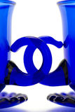 blåa koppar royaltyfri foto