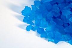 blåa kristaller Fotografering för Bildbyråer