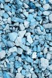 blåa kulöra stenar för bakgrund Arkivbild