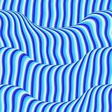 blåa kulöra waves Royaltyfri Fotografi