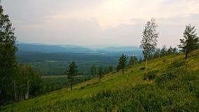 blåa kullar Arkivfoto