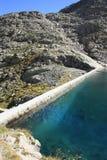 blåa lakepanticosa pyrenees rocks långt Royaltyfria Bilder