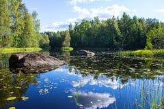 blåa lakes Arkivfoto