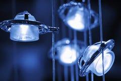 blåa lampor arkivfoton