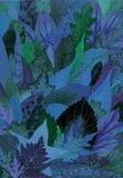 blåa leaves vektor illustrationer