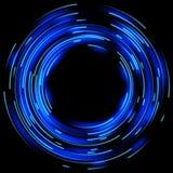 Blåa ljusa effekter 10 eps vektor illustrationer