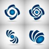 blåa logoer royaltyfri illustrationer