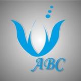 Blåa logoer och symboler Royaltyfri Fotografi