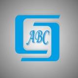 Blåa logoer och symboler Arkivfoto