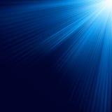 Blåa lysande strålar. EPS 10 stock illustrationer