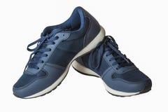 Blåa mäns skor Royaltyfria Bilder