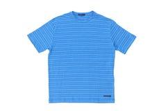 Blåa mäns t-shirt royaltyfri foto
