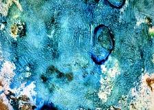 Blåa mörka färger, målarfärgbakgrund, toner, vattenfärgmålarfärgbakgrund royaltyfri fotografi