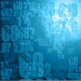 blåa mörka nummer Arkivfoton